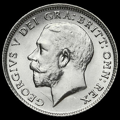 1918 George V Silver Sixpence, A/UNC
