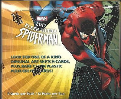 2017 Marvel Fleer Ultra Spider-Man Sealed Box Random Sketch Plus Rare Cards