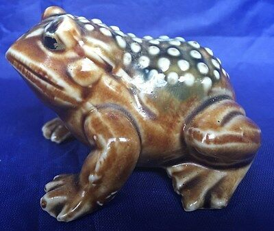 Vintage CERAMIC FROG or Toad FIGURINE Made In Japan