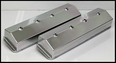 Sbc Chevy Center Bolt Fabricated Tall Aluminum Valve Covers No Acc. Holes 6234-S