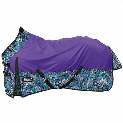 "Tough-1 1200D Waterproof Poly Turnout Sheet - Paisley Shimmer Print - 72"" - NWT"