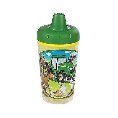 John Deere Insulated Sippy Cup with One Piece Lid - 9 oz New