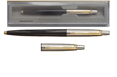 Parker Jotter GT (Black Body,Blue Refill) + Gold Trim + New in Box + Free Ship