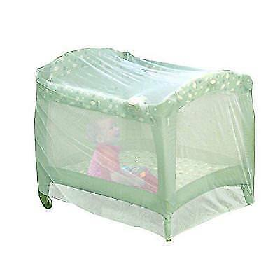 Nuby Baby Playpen Netting, Universal Size, White, Pack N Play Mosquito Net New