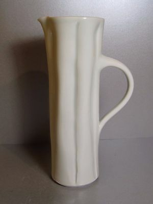 JOANNA HOWELLS Sculptural Tall Porcelain Jug British Studio Pottery