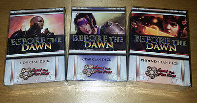 L5R Legend Five rings - Set of all 3 BEFORE THE DAWN starters Crab Phoenix Lion