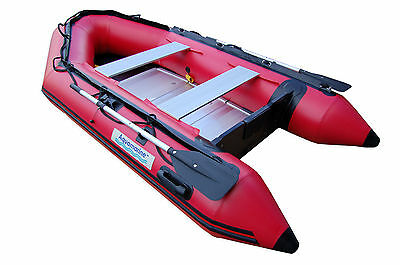 10 ' INFLATABLE BOAT Dinghy SPORT  Raft with double layers of fabric under tubes