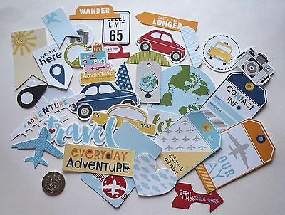 Scrapbooking No 106 - 25 Plus Travel Die Cuts - Mixed Sizes