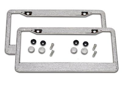 2Pcs Car Bling License Plate Frames for Women Luxury Rhinestone Frame Cover+Caps