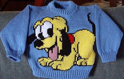 Baby Pluto Dog Puppy New Hand Knitted Size 2-3