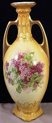 Antique Hand Painted Vase Made In Austria Robert Hanke, Royal Wettina
