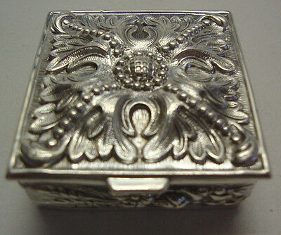 Top quality well decorated silver trinket box