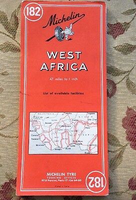 Michelin 1954 West Africa 182 Map English And French    D3