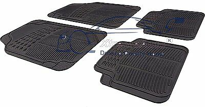 Universal Front & Rear BLACK RUBBER Car Mats Vauxhall Insignia