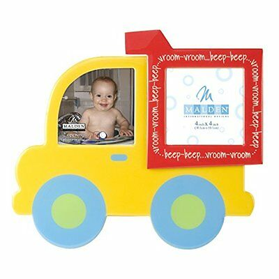Yellow Dump Truck Picture Frame Boys Baby Collage Nursery Bedroom Decor 4x4