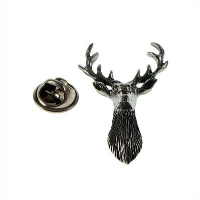 Scottish Stag Pewter Lapel Pin Badge XWTP077