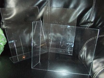 """DeskMate Lot of 8 Acrylic Sign Holders 8.5"""" x 11"""" Brochure Holders"""