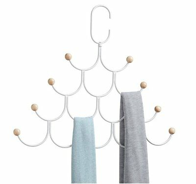 Umbra ESTIQUE SCARF ORGANISER on Rotating Hanger with 8 Hooks