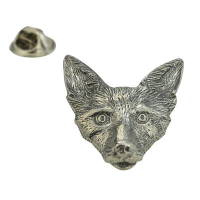 Fox Pewter Lapel Pin Badge XWTP097