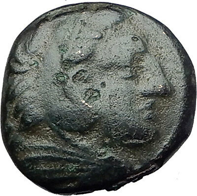 ALEXANDER III the GREAT 323BC Hercules Club Macedonia Ancient Greek Coin i61457