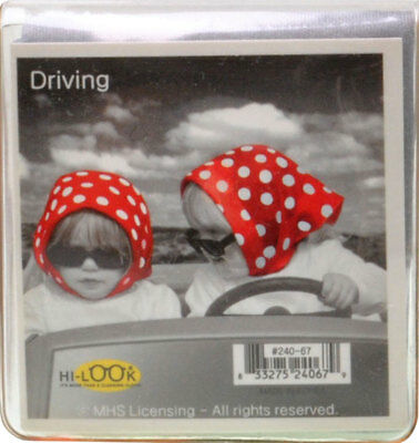 NEW Young Girls Driving with Red Scarf  Microfiber Glasses Cleaning Cloth