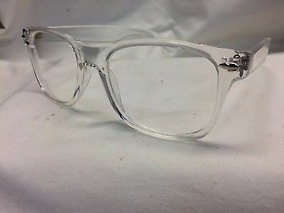 Classic Horn Rim Eyeglasses Crystal Clear Frames USA UV400 Suitable for Rx
