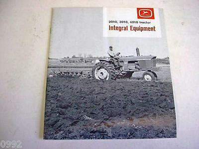 John Deere 2010, 3010 & 4010 Farm Tractors Integral Equipment Brochure 1963  gb4