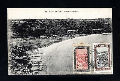 15544-MADAGASCAR-OLD POSTCARD DIEGO SUAREZ.1925.FRENCH colonies.carte postale