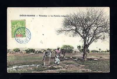 15545-MADAGASCAR-OLD POSTCARD DIEGO SUAREZ.1907.FRENCH colonies.carte postale