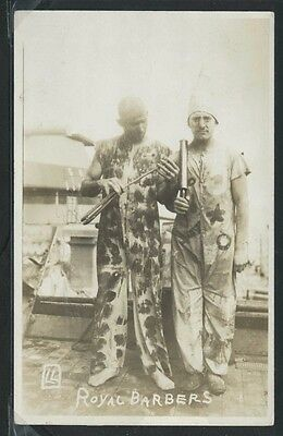 RPPC c.1920 KING NEPTUNE'S COURT ROYAL BARBERS U.S. Navy Crossing the Equator