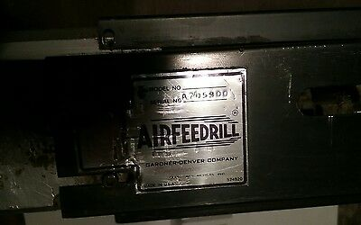 Gardner Denver Airfeed pneumatic boring drill jacobs chuck