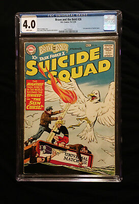 1959 DC Brave and the Bold #26 CGC 4.0 White Pages Suicide Squad