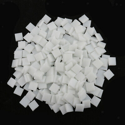 250pcs Glass Pieces Mosaic Tiles Tessara Square DIY Crafts 10x10mm White