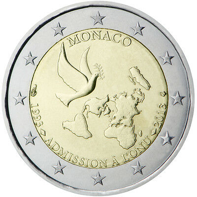 Monaco - 2 Euro The 20th anniversary of the ONU joining