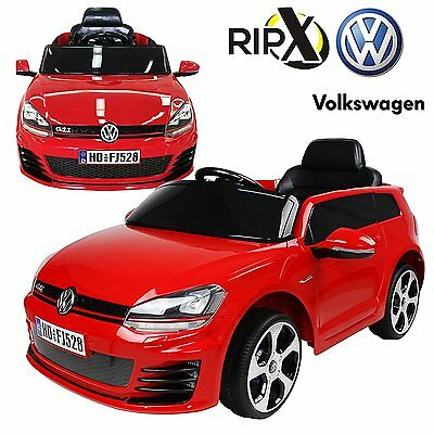 REBOXED Volkswagen VW Golf GTI 12V Battery Powered Ride on Kids Car Remote Red