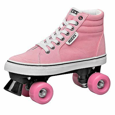 Roces Womens Ollie Quad Skates Lace Up Shoes Padded Ankle Collar Canvas