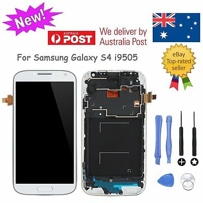 LCD Display Touch Screen Digitizer Assembly White For Samsung Galaxy S4 i9505 AU