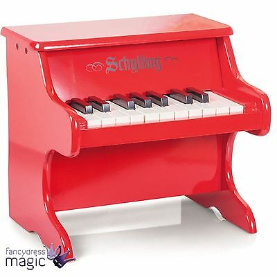 Schylling Mini Red Wooden Childs Piano Classic Toy Musical Instrument Retro Gift