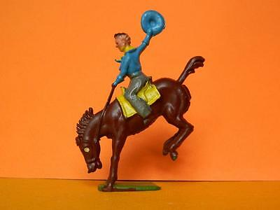 CRESCENT LEAD VINTAGE 50s WILD WEST RODEO COWBOY ON BUCKING BRONCO HORSE
