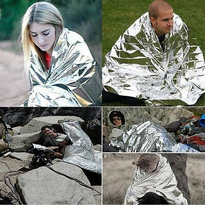 210*160cm Thermal Silver Survival Aluminum Foil Emergency Blanket First Aid