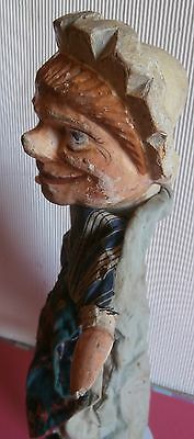 c1880 CHARACTER  Punch  &  Judy  wood  carved  HEAD  puppet* Judy*