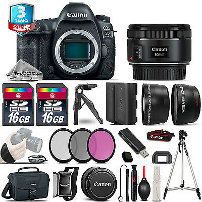 Canon EOS  5D Mark IV Camera + 50mm - 3 Lens Kit + 32GB + EXT BAT + 2yr Warranty