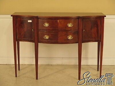 41498E: HICKORY CHAIR CO. Inlaid Mahogany Federal Sideboard On Legs