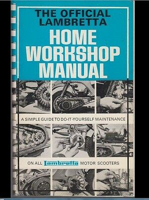 6Th Edition Lambretta Workshop Manual For All Machines Imported To Uk Since 1959