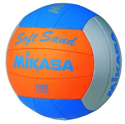 Original Mikasa Beach-Volleyball Soft Sand VXS-2 blau/orange/grau