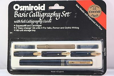 Vintage Osmiroid Easy Change Basic Calligraphy Pen Set