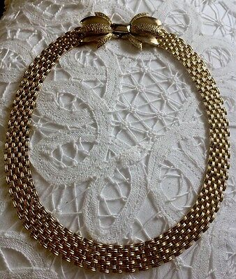 Beautiful Vintage Gold Tone Link Style Necklace