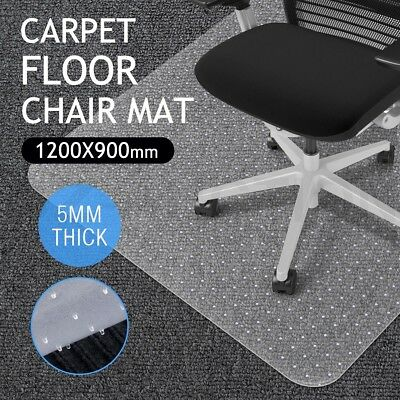 Hard Carpet Mat Floor PVC Protector Office Computer Plastic Chairmat-120 x 90cm