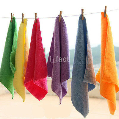 5/10Pcs Multicolor Microfiber Absorbent Towel Car Home Washing Clean Wash Cloth