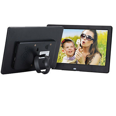 """10.1"""" HD High Resolution Digital Picture Photo Frame + Remote Controller Black"""